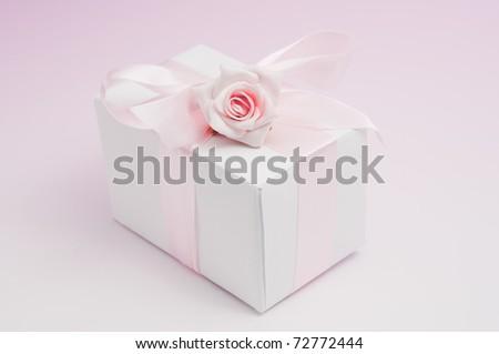 Beautiful gift box - stock photo