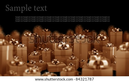 Beautiful gift boxes with ribbon 3D render ( high resolution )