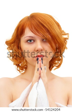 stock photo beautiful ginger haired girl with palms under her chin 54124204 spray porn rabbit review Sexy Mature Women Seeking Young Men For Discreet .