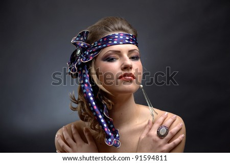 Beautiful Girl and make-up