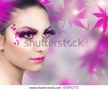 Beautiful Girl.Creative Fashion Makeup