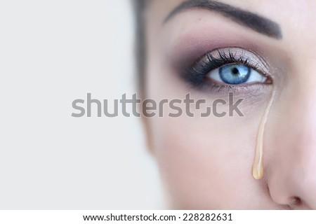 free photos sad woman with tearful eyes avopix com