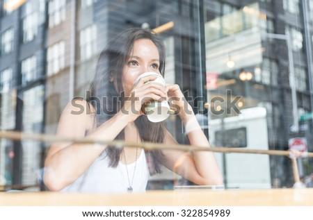 beautiful girl enjoying an hot...