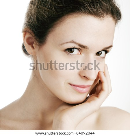 Beautiful Girl face.Perfect skin.