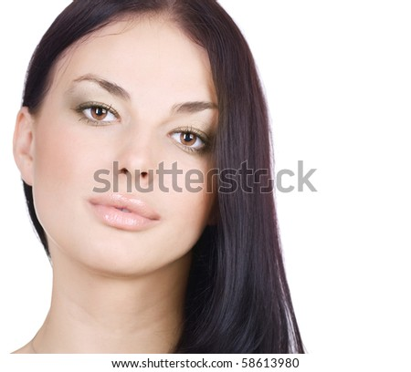 Beautiful Girl Face.Perfect Skin.Natural Beauty
