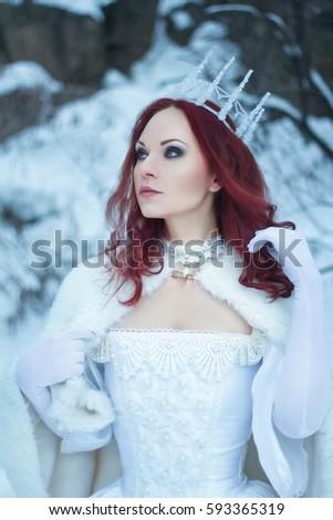 Free Photos Beautiful Winter Witch In Silver Dress Avopix Com