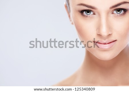 Beautiful Stock Photography Beautiful girl on a white