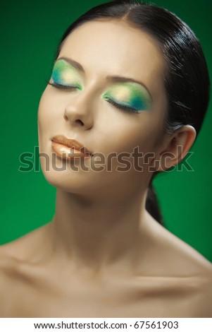 beautiful girl on the green