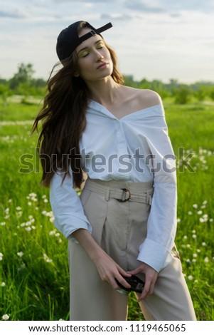beautiful girl photographer...