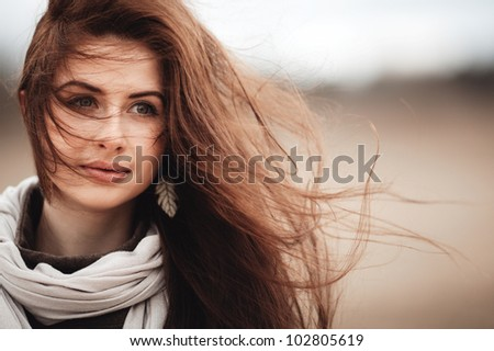 beautiful girl portrait - stock photo