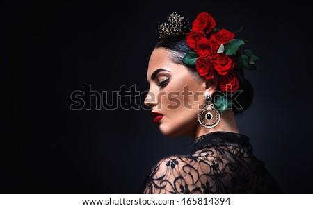 beautiful girl. Spanish style. #465814394