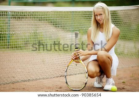 beautiful girl tennis player