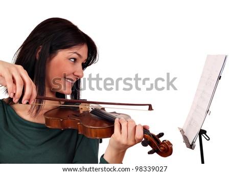 beautiful girl violinist