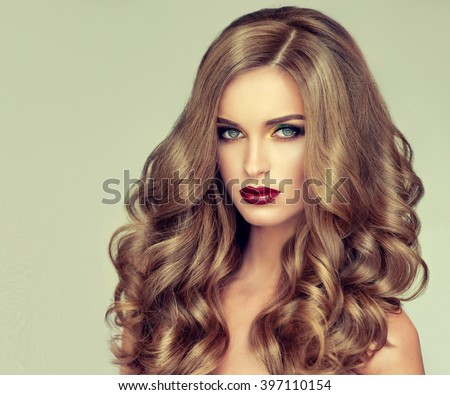 Remarkable Beautiful Girl With Long Wavy Hair Fair Haired Model With Curly Hairstyles For Men Maxibearus