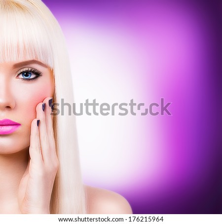 Beautiful girl with manicure