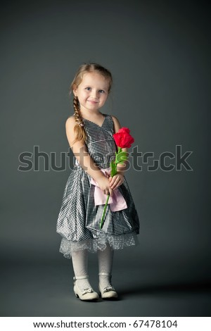 beautiful girl with paper flower