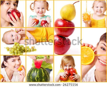 beautiful girls with fruits