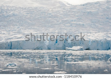 Beautiful glacier in Antarctic waters