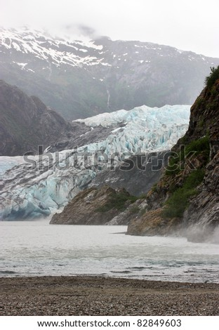 Beautiful glacier in Mendenhall National Park in Alaska