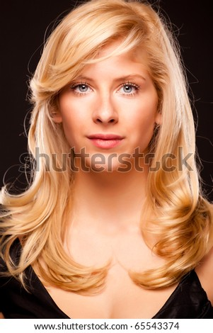 Beautiful glamour portrait of a blond girl