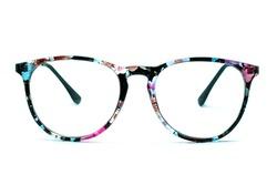 Beautiful glasses isolated on white background