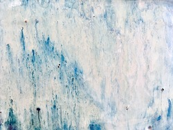 Beautiful glazes effect of handmade ceramic texture background. Abstract blue-white color ceramic pattern texture. Soft Focus