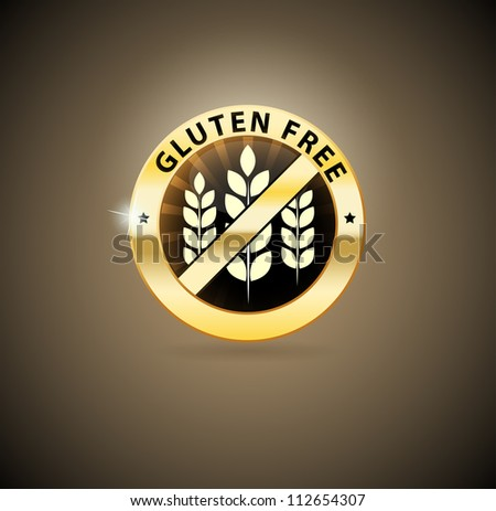 Beautiful Gluten free sign. Can be used as a stamp, emblem, seal, badge etc. Beautiful harmonic colors.
