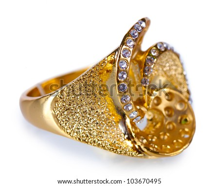 Beautiful Golden Rings Beautiful Gold Ring With