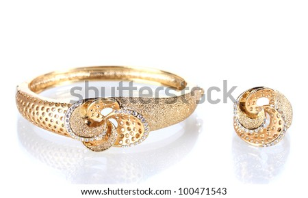 Beautiful Golden Rings Beautiful Golden Bracelet And