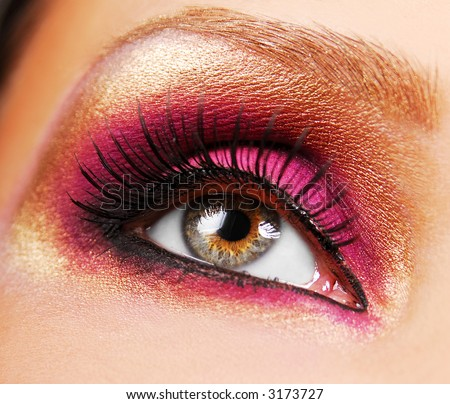 pink eyeshadow looks. Eye Makeup Pink. golden make