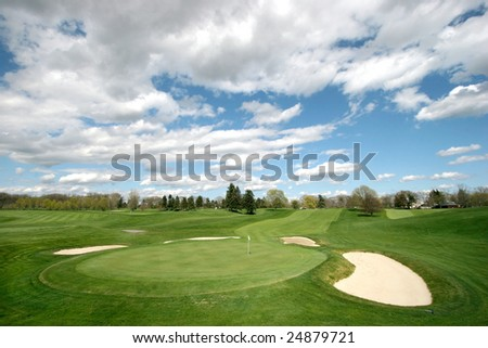beautiful golf course landscape
