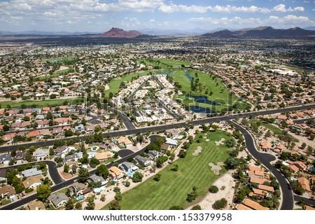 Shutterstock Beautiful golf course near Red Mountain in east Mesa, Arizona