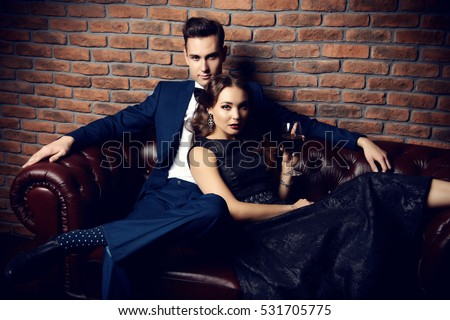 beautiful gorgeous couple in...