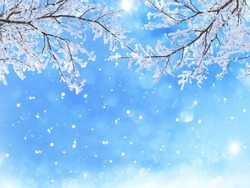 Beautiful graphic background of winter snow
