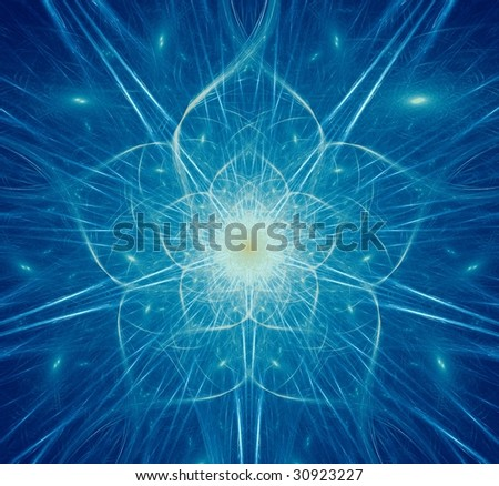 Beautiful graphic of a dreamlike flower with five petals