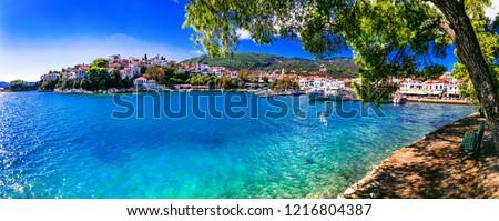 beautiful greek islands- Skiathos. Northen Sporades of Greece
