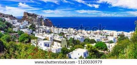 beautiful Greek islands - volcanic Nisyros (Dodecanese) panorama of Mandrakia village