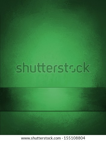 beautiful green background Christmas color layout with vintage grunge background texture design and ribbon stripe on bottom border for web layout design and posters ads brochures and graphic art