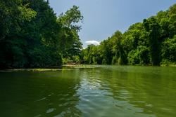 Beautiful green Veleka river in the summer near Sinemorets Bulgaria, Strandja Mountain, Black sea