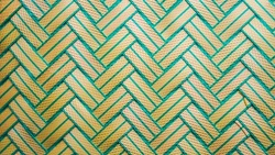 Beautiful green zigzag background in selective focus