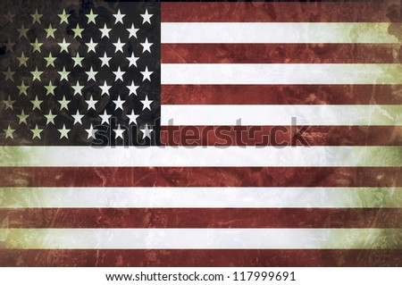 Beautiful grunge flag of United States