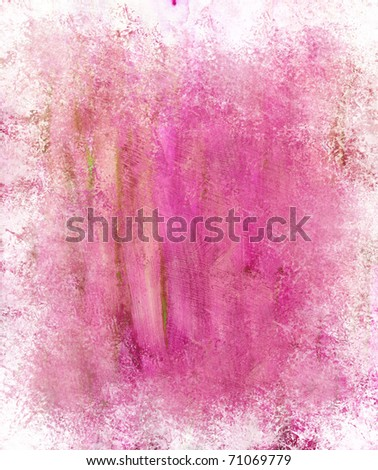 Beautiful grunge splatter background in soft magenta- Great for textures and backgrounds for your projects!