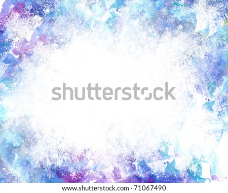 Beautiful grunge splatter background in soft purple and blue- Great for textures and backgrounds for your projects!