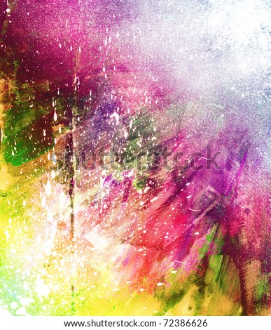 Beautiful grunge splatter watercolor background- Great for textures and backgrounds for your projects! - stock photo