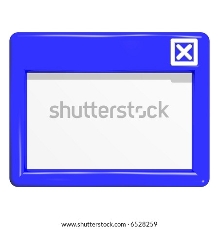 Beautiful GUI window icon isolated on white