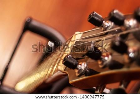 beautiful guitar sound music voiceover Stok fotoğraf ©