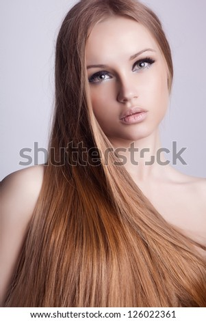 Beautiful hair, portrait of an young girl