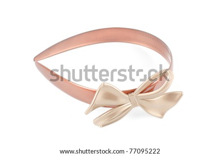 Beautiful hairpin isolated on a white background