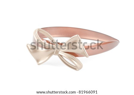 Beautiful hairpin isolated on white background
