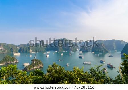 beautiful halong bay landscape...